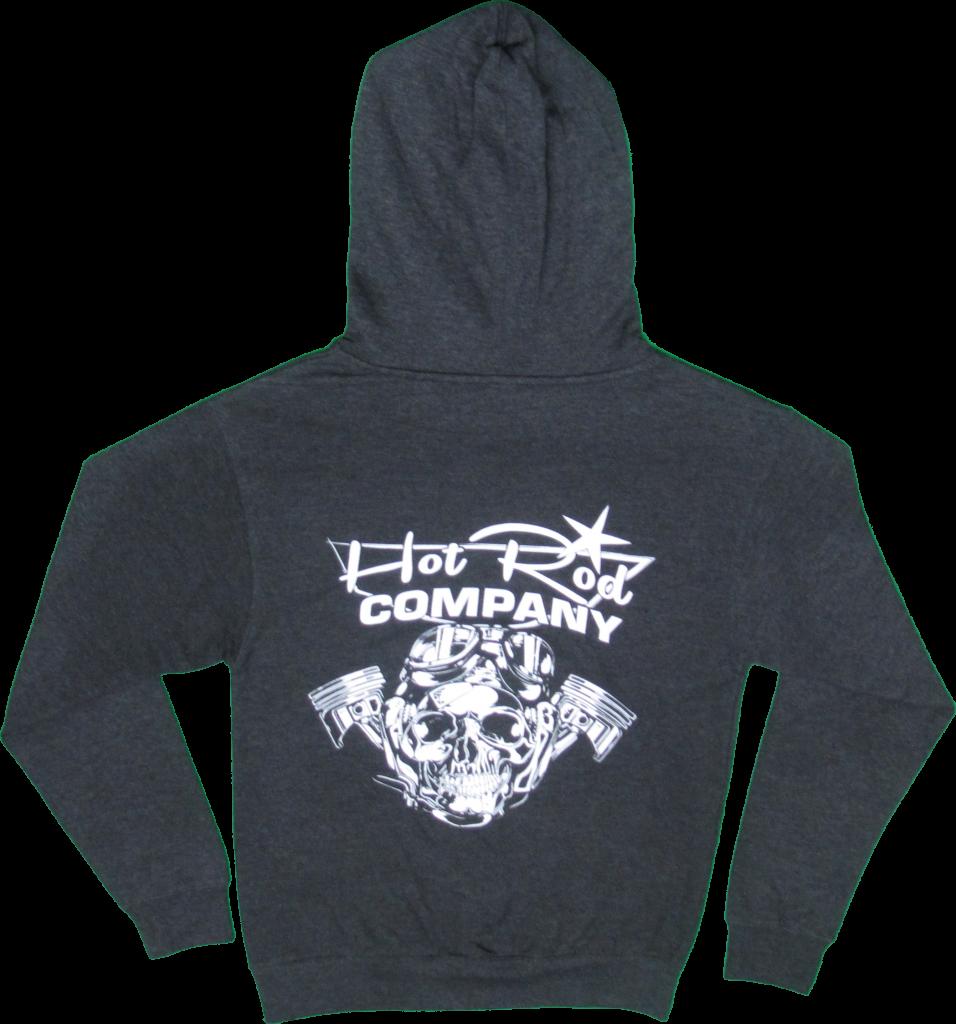 Hot Rod Company hooded sweatshirt, charcoal (back)
