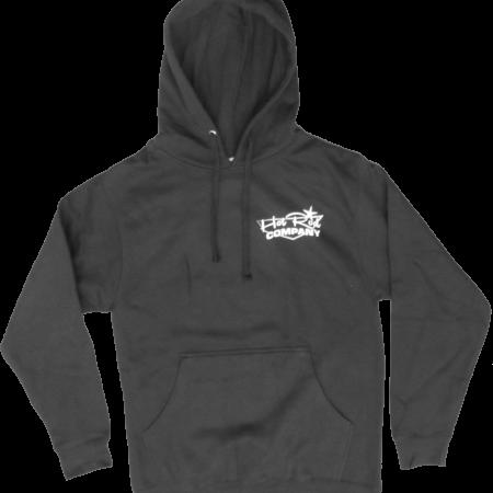 Hot Rod Company hooded sweatshirt, black (front)