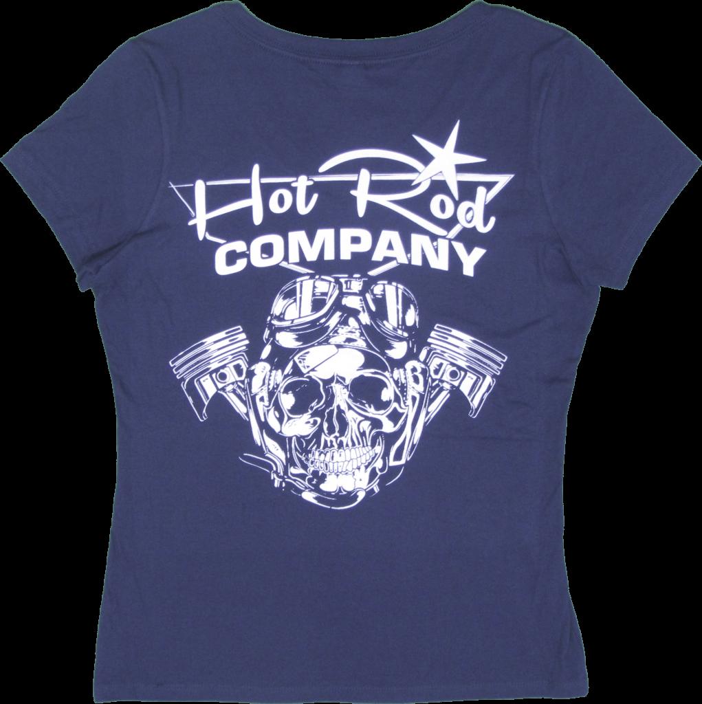 Hot Rod Company women's t-shirt, blue (back)